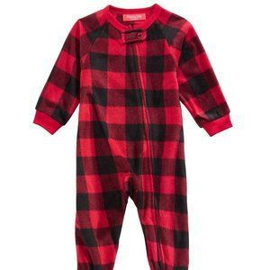 Macy's Family Pajamas Matching Buffalo Check Baby
